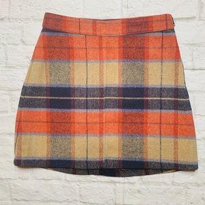 Lulu's plaid flannel mini skirt